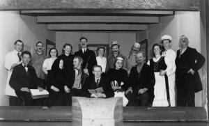 Amatørskuespillere i Jordløse Forsamlingshus